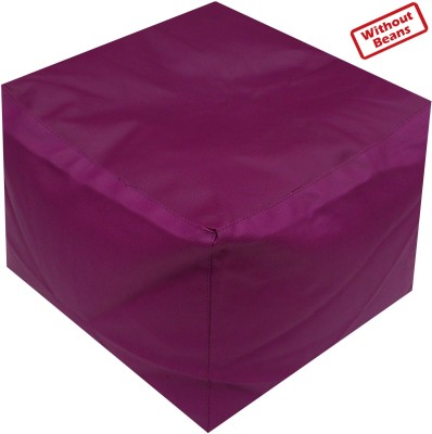 Fun ON XXL Puffy Leatherette Bean Bag Footstool  Cover (Without Filling)