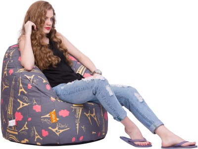 ORKA XXXL Bean Bag Sofa  Cover (Without Filling)