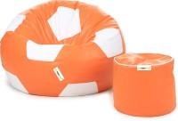 Can Bean Bag XXL Bean Bag  With Bean Filling(Orange, White)
