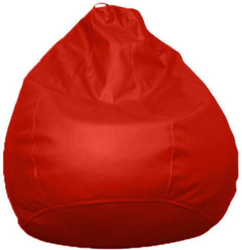 Amatya Leatherette S Standard Kid Bean Bag(Foam Filling, Color - Red)