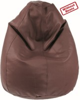 Fab Homez XXL Teardrop Bean Bag Cover(Brown)