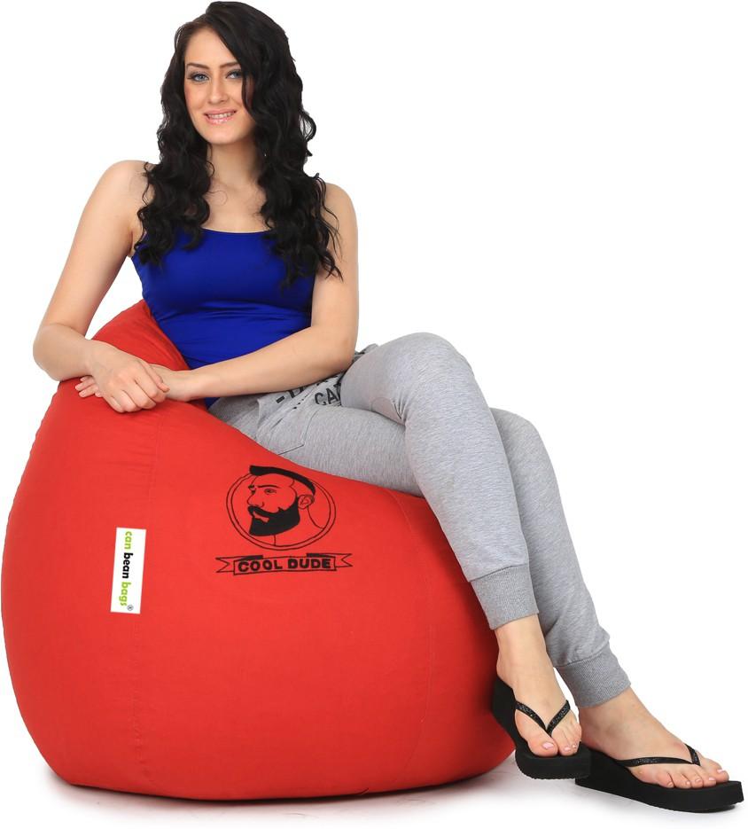 View Can Bean Bag XL Bean Bag  With Bean Filling(Red) Furniture (Can Bean Bag)