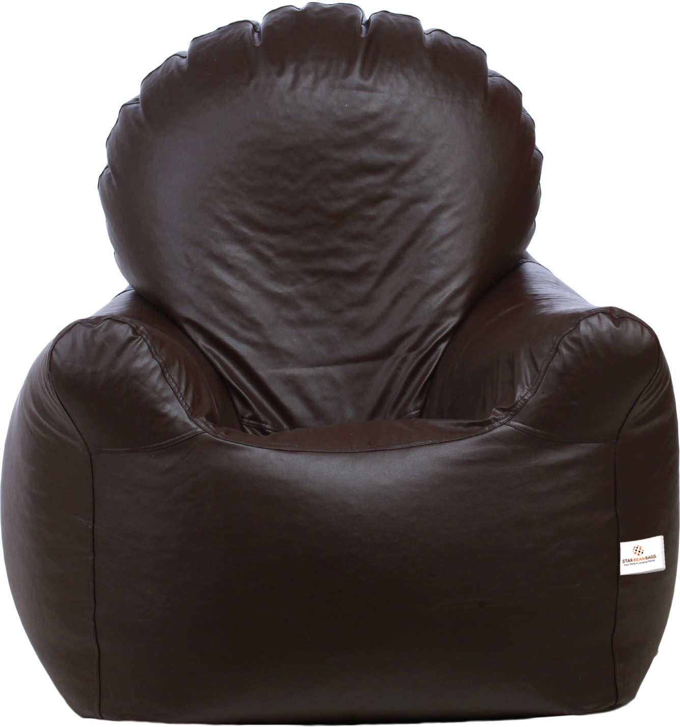 View Star XXXL Bean Bag Chair  With Bean Filling(Brown) Furniture (Star)