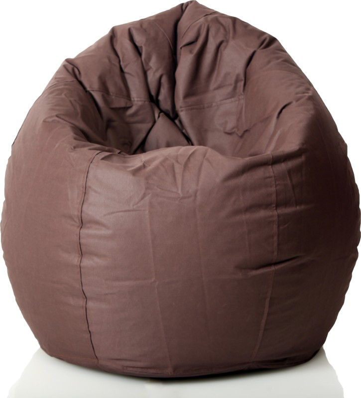 Comfy Bean Bags XXL Bean Bag  With Bean Filling(Brown)