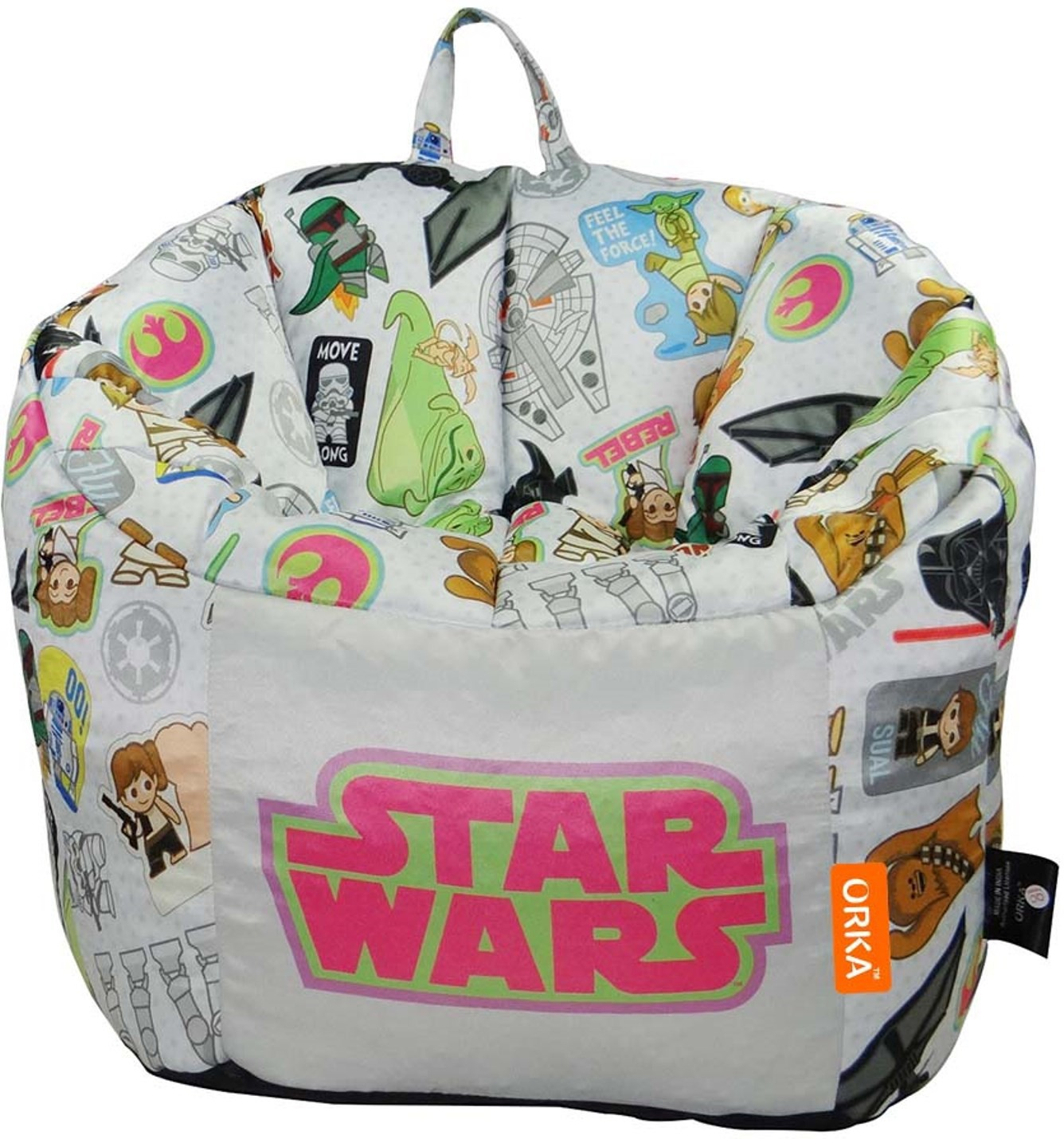 View Starwars XL Characters Digital Printed Kids Bean Bag Sofa  With Bean Filling(Multicolor) Furniture (Star Wars)