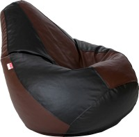 Comfy Bean Bags Large Teardrop Bean Bag  With Bean Filling(Brown, Black)
