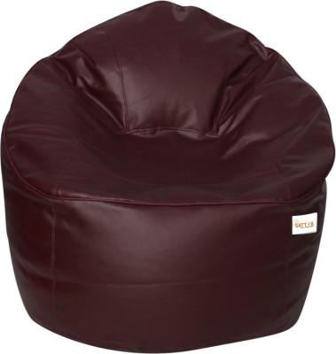 Sattva XXXL Muddha Bean Bag Sofa  With Bean Filling(Maroon)