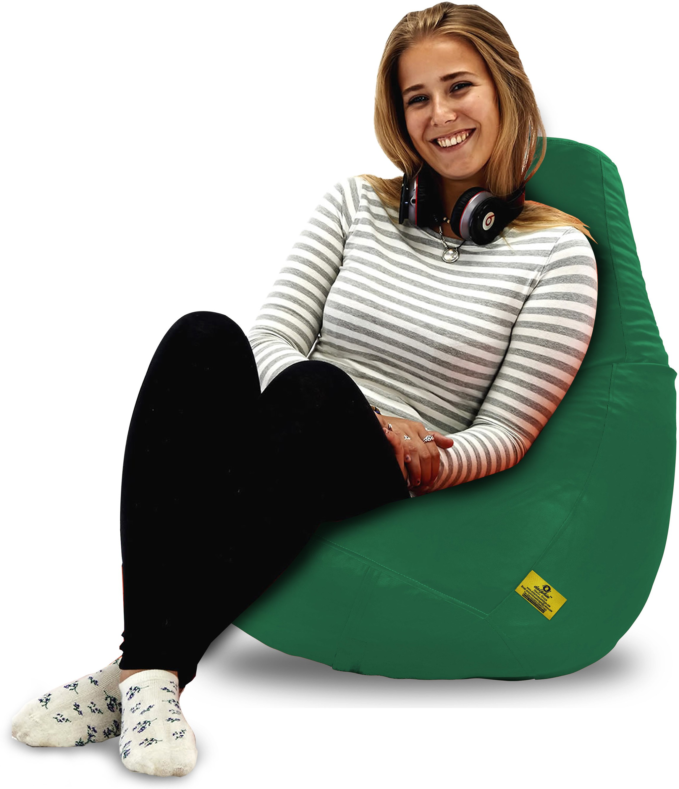View Dolphin Bean Bags XL Dolphin Original Xl Bean Bag-Bottle Green-With Fillers/Beans Bean Bag  With Bean Filling(Green) Furniture (Dolphin Bean Bags)