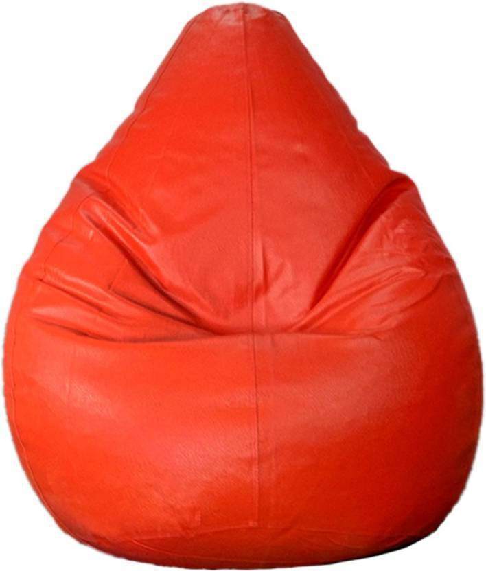 View JJ Design XXXL 31351 Bean Bag  With Bean Filling(Orange) Furniture (JJ Design)