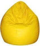 IMUSI XL Bean Bag  With Bean Filling (Ye...