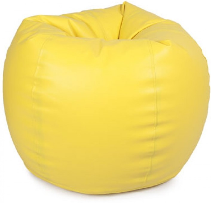 View IMUSI XXL Bean Bag  With Bean Filling(Yellow) Furniture (IMUSI)