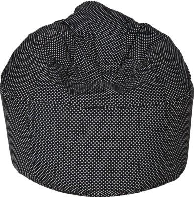 Star XXXL Muddha Bean Bag Sofa  With Bean Filling(Black)