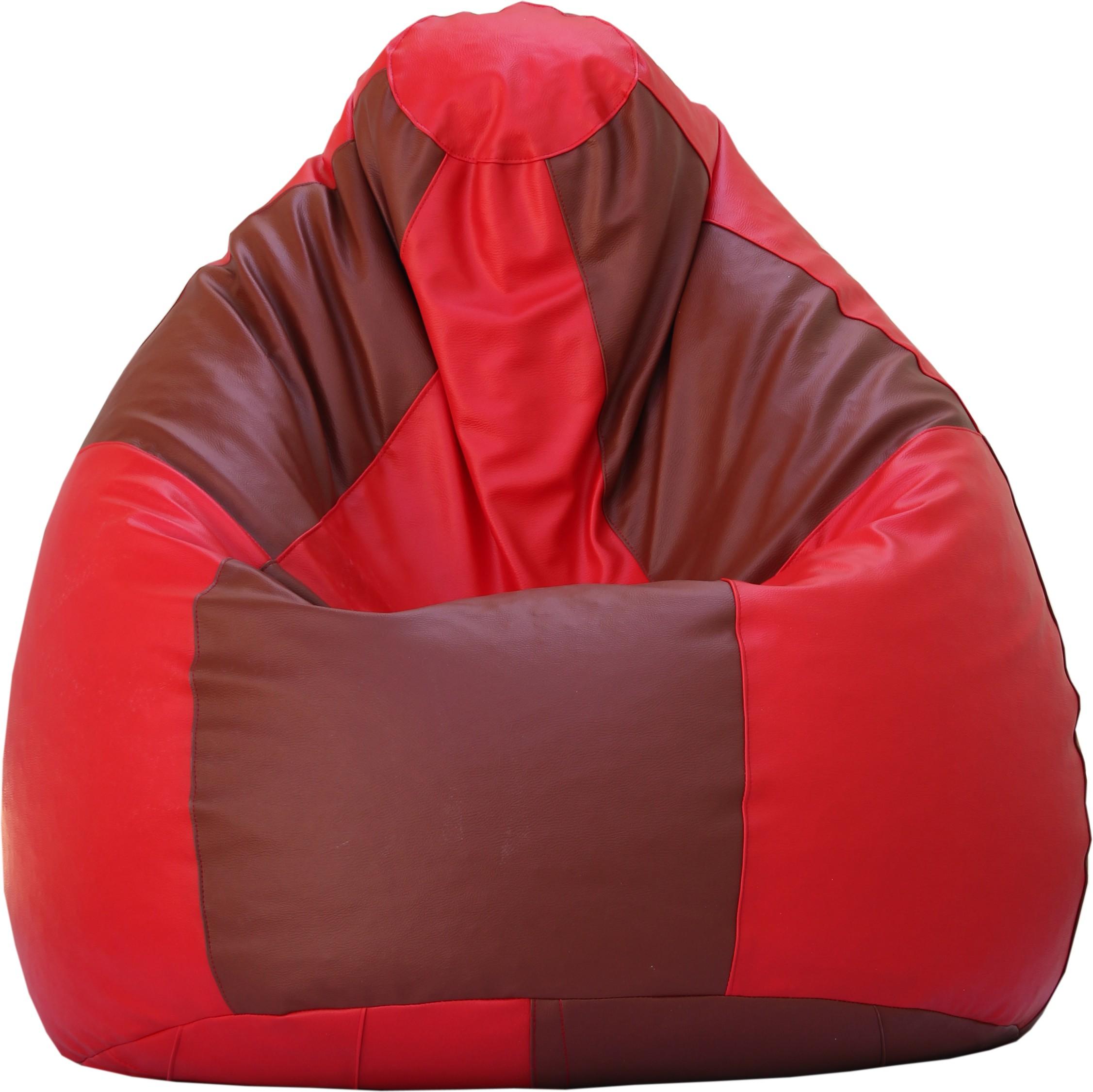 View Beanskart XXL Bean Bag XXL (Filled With Beans) Bean Bag  With Bean Filling(Red, Tan) Furniture (Beanskart)