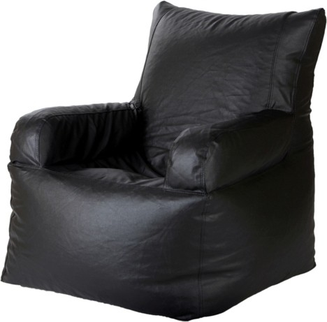 View Jigs XXXL Bean Bag Chair  With Bean Filling(Black) Furniture (Jigs)