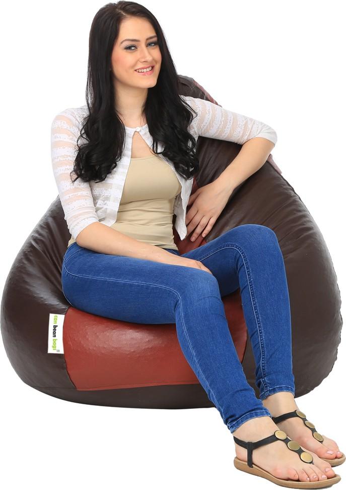 View Can Bean Bag XL Bean Bag Cover(Brown) Furniture (Can bean bags)