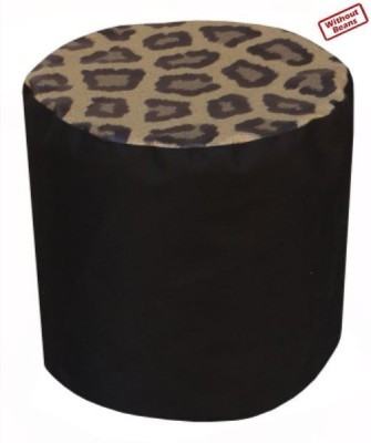 Fun ON XL Digital Printed Puffy Leopard Bean Bag Footstool  Cover (Without Filling)
