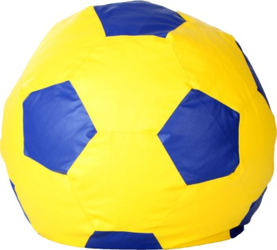Comfy Bean Bags XL Bean Bag  With Bean Filling(Yellow, Blue)