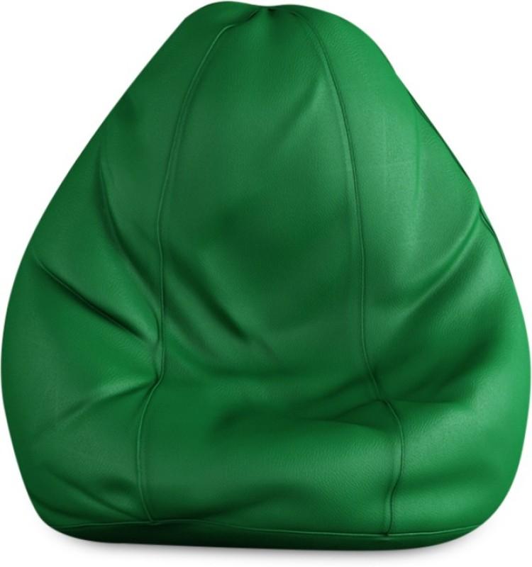 Beans Bag House Small Bean Bag Cover(Green)