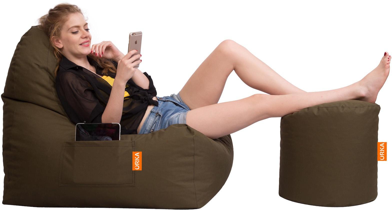 View Orka Bean Bags XXL Bean Bag Cover(Green) Furniture (Orka Bean Bags)