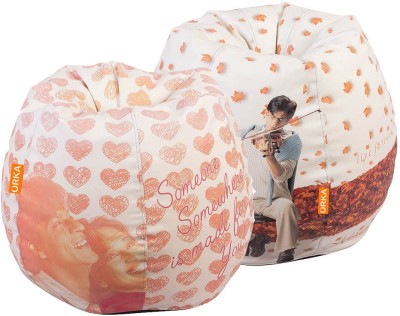ORKA XL YRF SET OF 2 - Digital Printed Bean Bag  Cover (Without Filling)