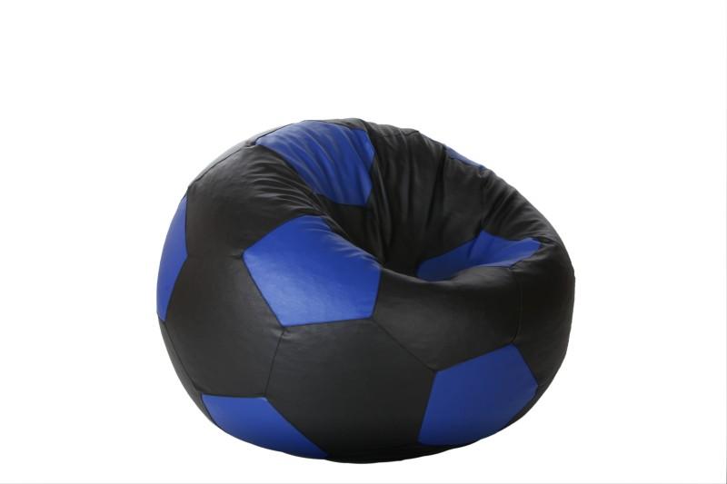 Comfy Bean Bags XL Bean Bag  With Bean Filling(Black, Blue)