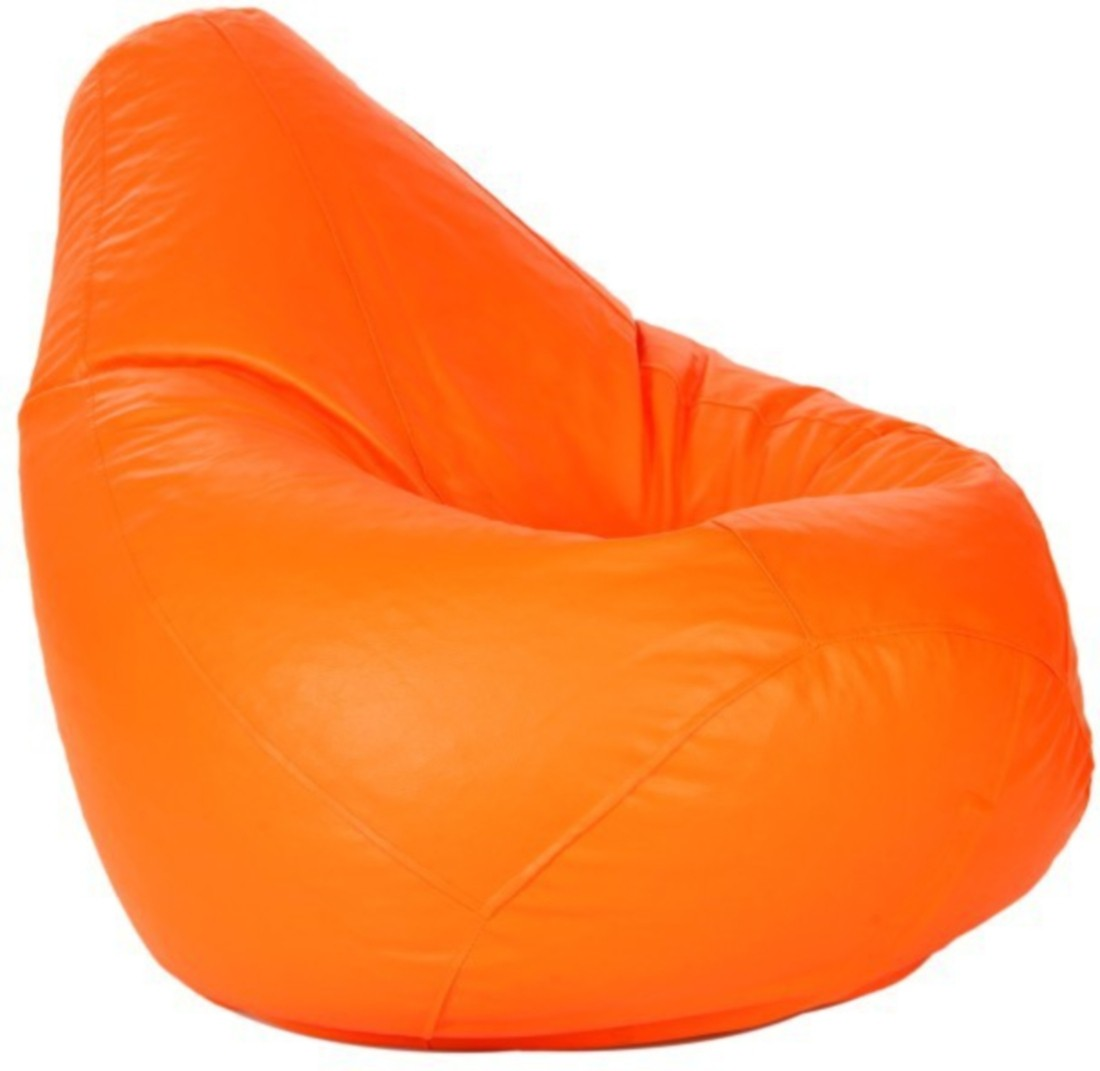 View IMUSI XL Bean Bag  With Bean Filling(Orange) Furniture (IMUSI)