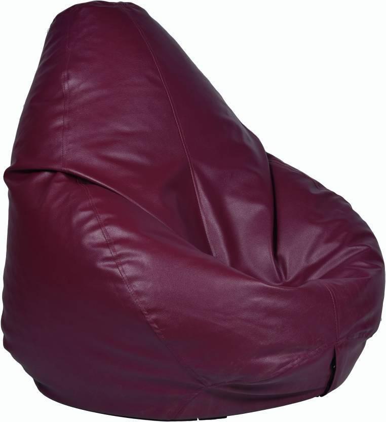 View JJ Design XXXL Bean Bag  With Bean Filling(Maroon) Furniture (JJ Design)