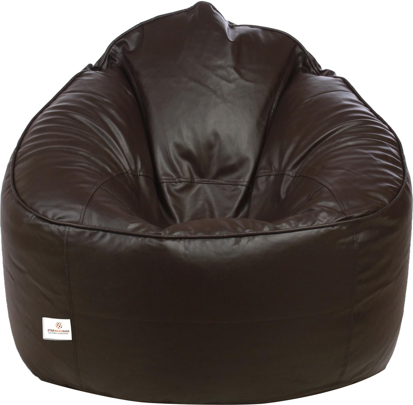 View Star XXXL Muddha Sofa Bean Bag Sofa  With Bean Filling(Brown) Furniture (Star)
