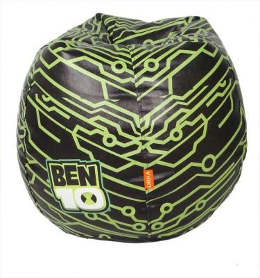 ORKA Ben 10 Filled with Beans Leatherette S Teardrop Kid Bean Bag(Bead Filling, Color - Multicolor)