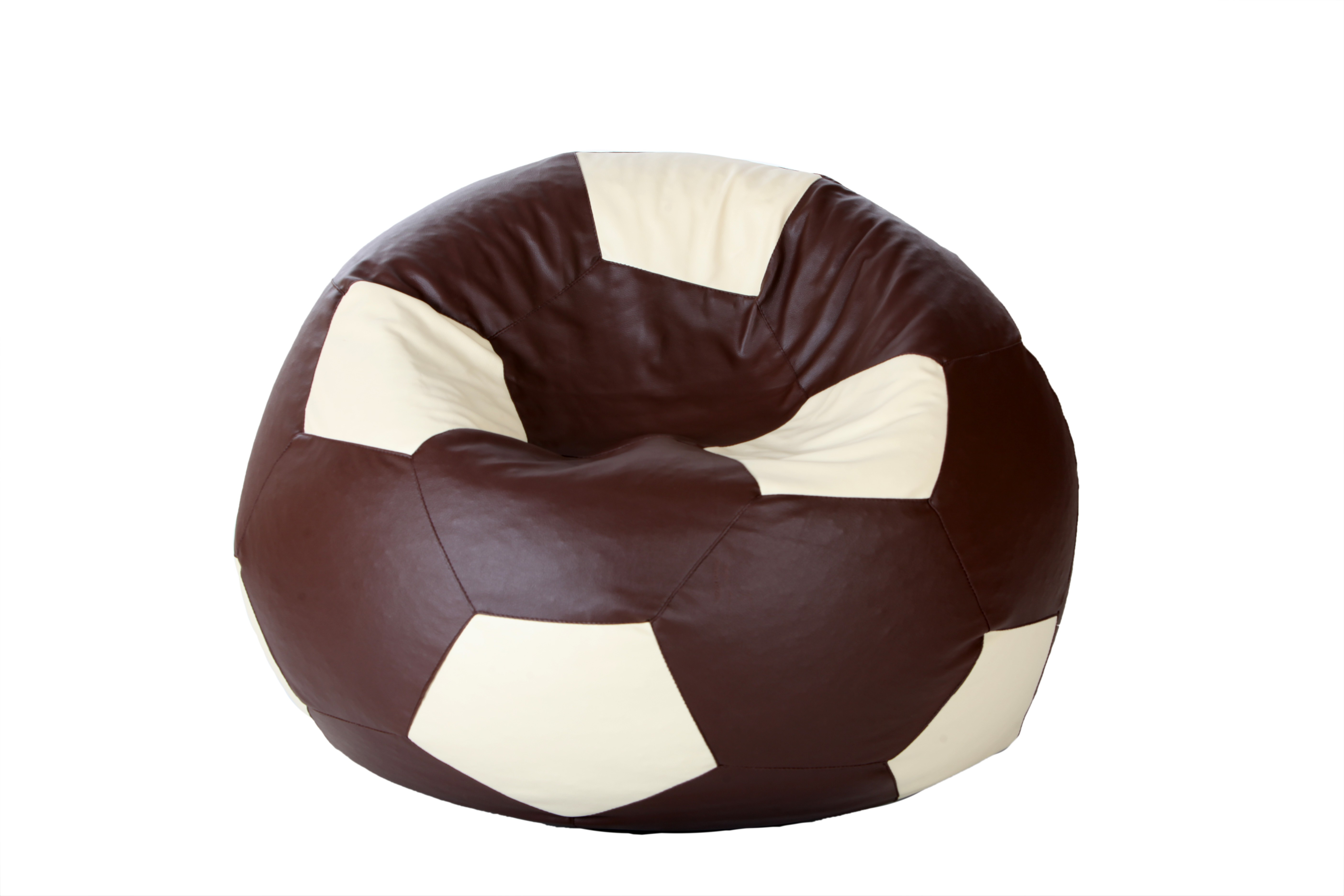 View Comfy Bean Bags XL Bean Bag Cover(Brown, White) Furniture (Comfy Bean Bags)