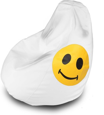 Dolphin Bean Bags XXL Dolphin Xxl Bean Bag White Smiley Filled With Beans  Bean Bag  With Bean Filling White  White Smiley Filled With WhiteSmileyFill available at Flipkart for Rs.2399