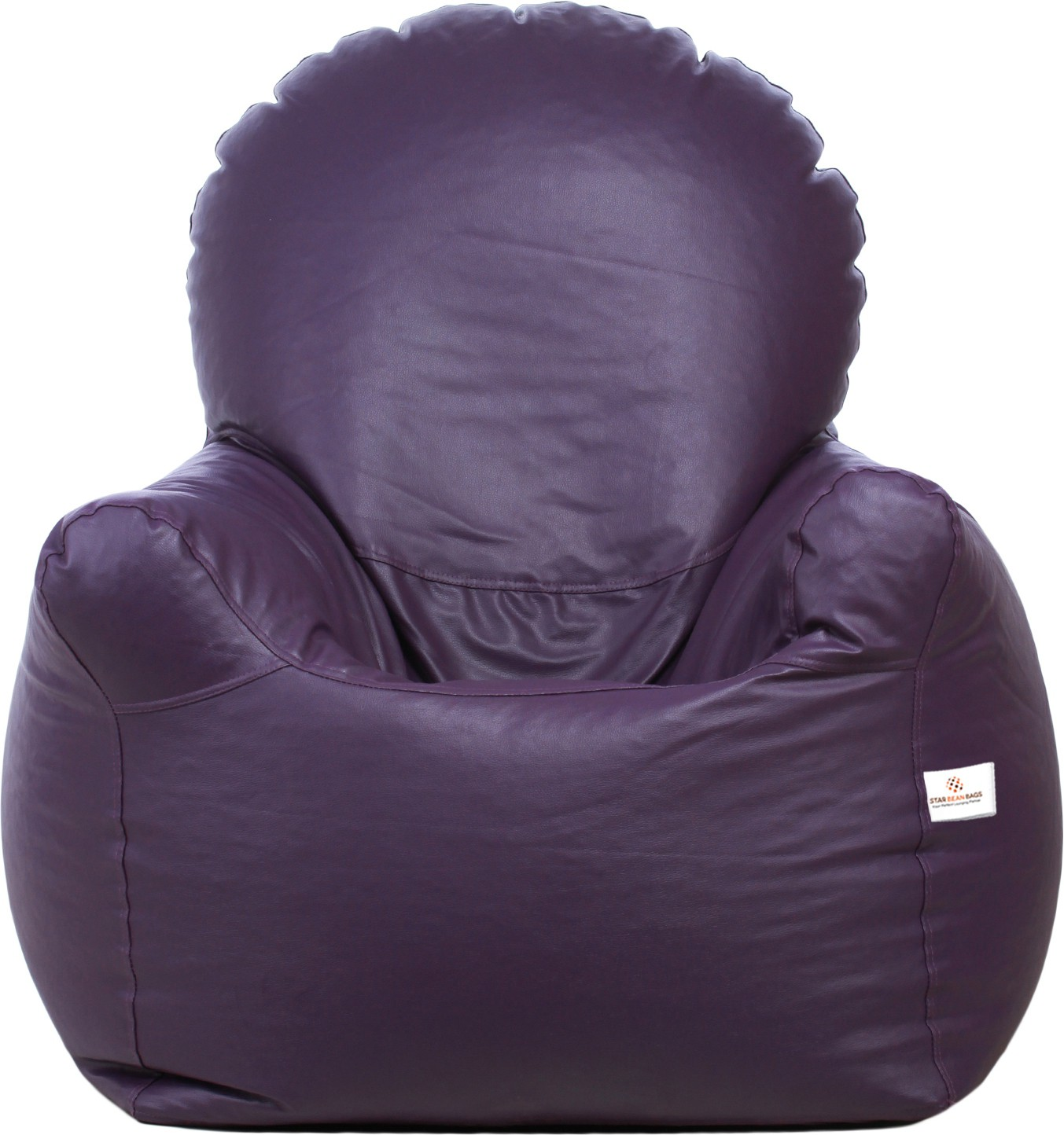 View Star XXL Emperor Arm Chair Bean Bag Chair  With Bean Filling(Purple) Furniture (Star)