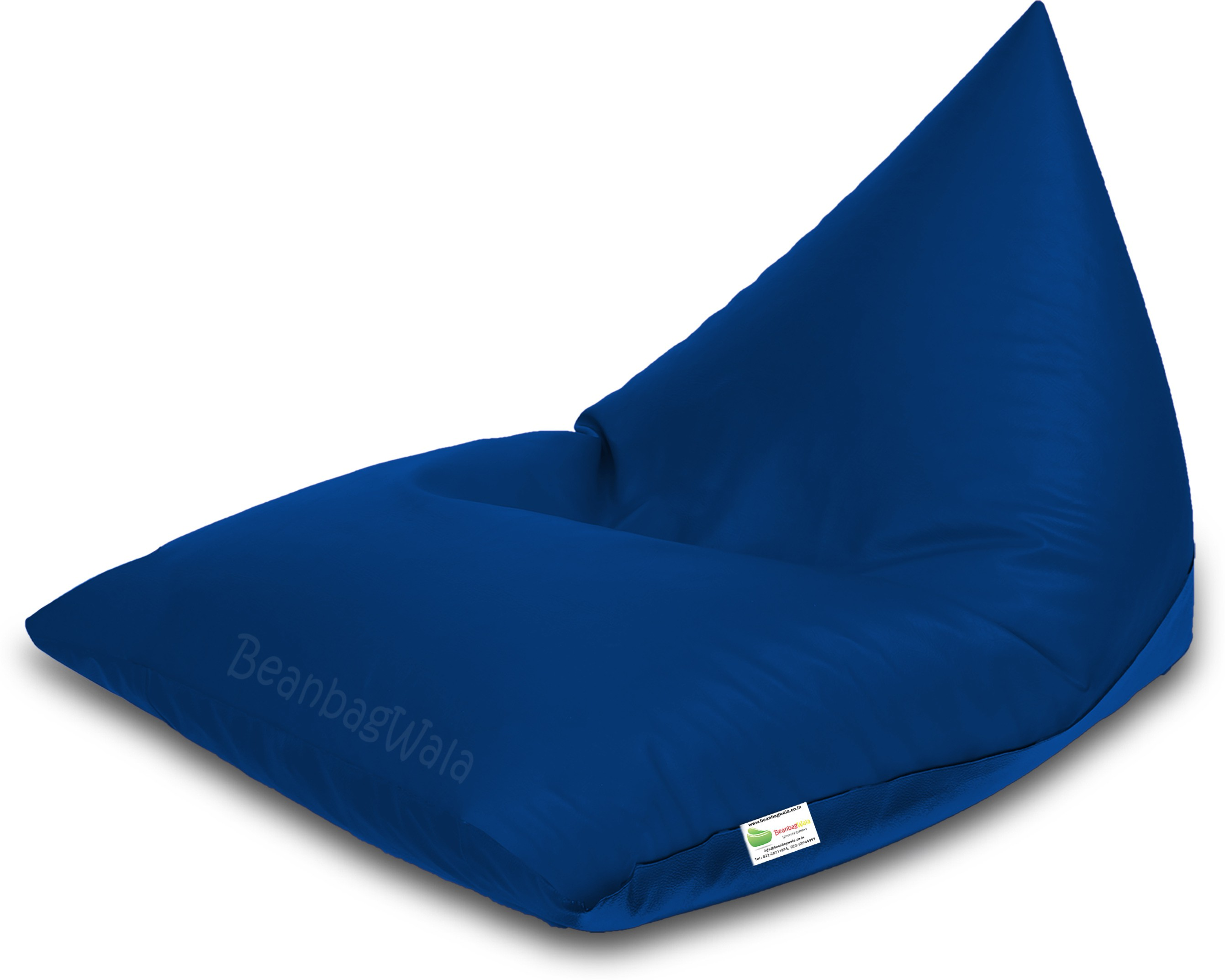 View Bean Bagwala XXXL BBWXXXL-05-Pyrd Bean Bag  With Bean Filling(Blue) Furniture (Bean Bagwala)