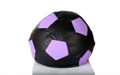 Comfy Bean Bags XL Bean Bag  With Bean Filling(Black, Purple)