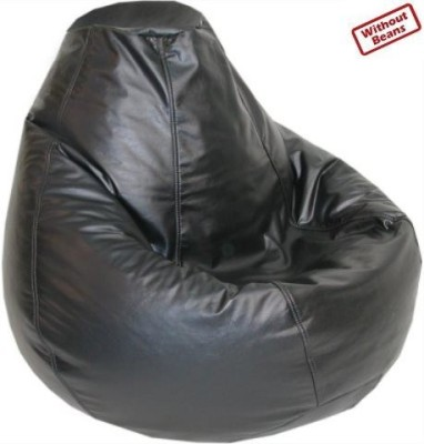 Fab Homez Large black bean bag cover-large Bean Bag  Cover (Without Filling)