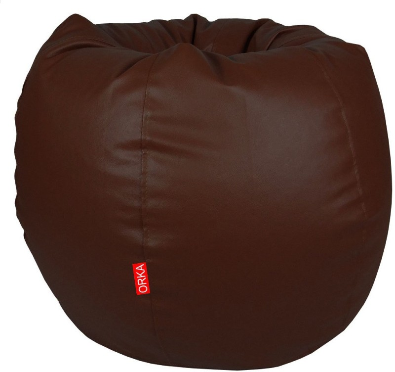 ORKA XXL Classic Bean Bag With Bean Filling(Brown)
