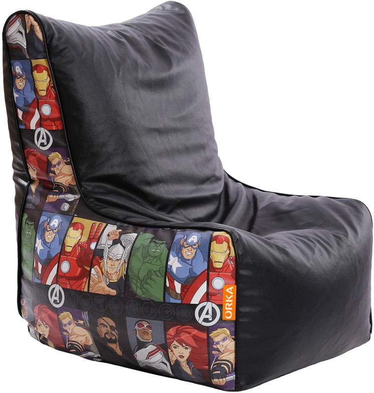ORKA XL Avengers Character Digital Printed Bean Bag Chair With...