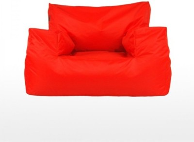Mr.Lazy XXXL Bean Bag Chair  With Bean Filling(Red)