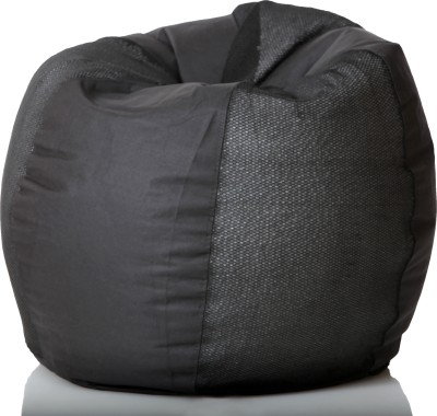 Comfy Bean Bags XL Teardrop Bean Bag  With Bean Filling(Black)