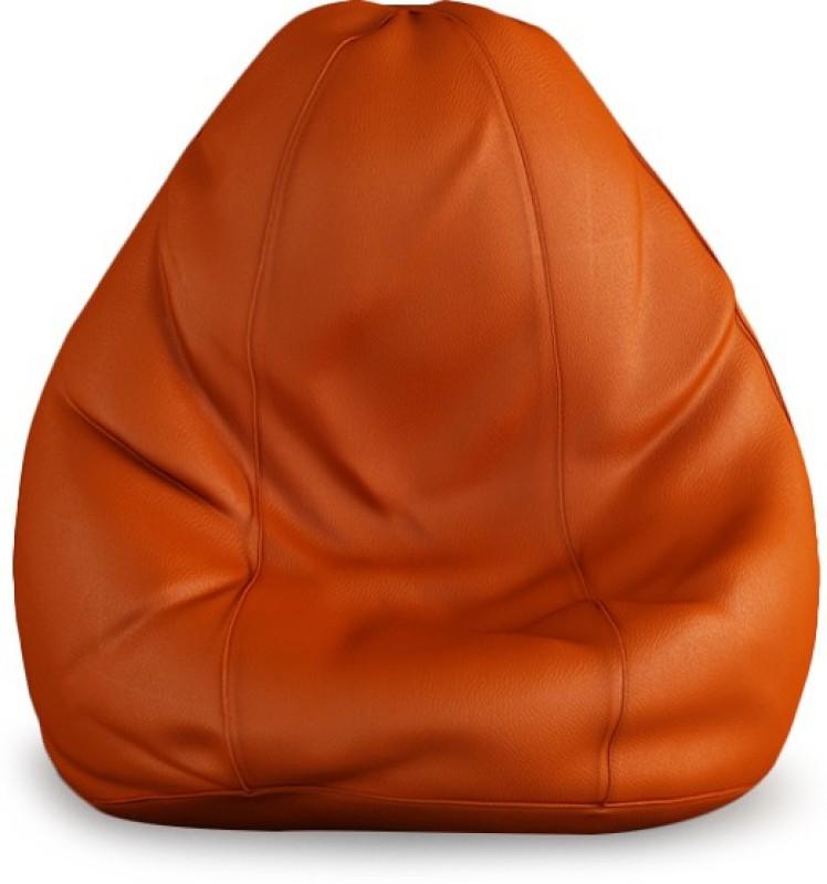 Beans Bag House XXL Bean Bag Cover(Orange)