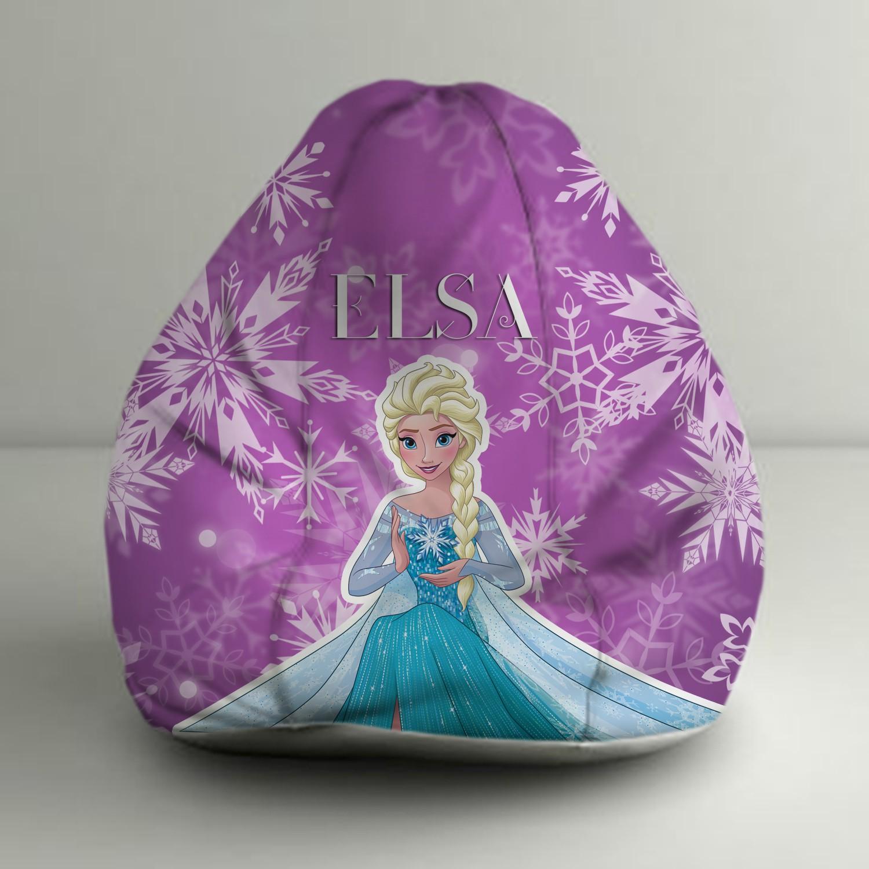 View Disney XXXL Frozen Elsa Digital Printed Bean Bag  With Bean Filling(Purple, Blue) Furniture (Disney)