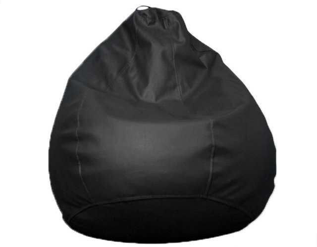 View ABCD Small Bean Bag  With Foam Filling(Black) Furniture (ABCD)