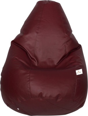 Star XXL Bean Bag Cover(Maroon)