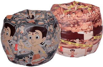 ORKA XXXL Chhota Bheem Set of 2 - Digital Printed Bean Bag  Cover (Without Filling)