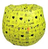 ORKA XXXL Bean Bag  With Bean Filling (Y...