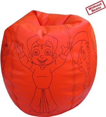 Fun ON XL Chhota Bheem Teardrop Bean Bag  Cover (Without Filling)