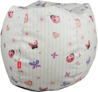 ORKA Color Faries Leatherette S Teardrop Kid Bean Bag(Bead Filling, Color - Multicolor)