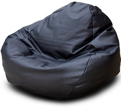 Star XXL Classic Bean Bag  With Bean Filling(Black)
