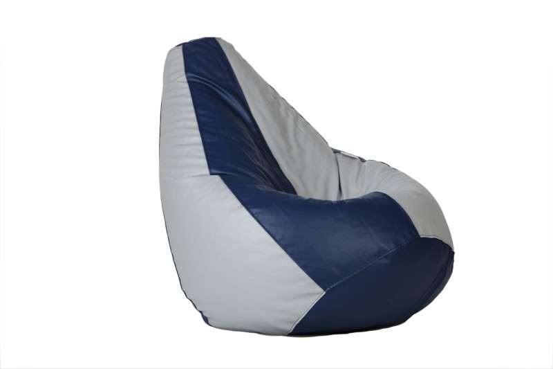 Comfy Bean Bags XL Bean Bag  With Bean Filling(Blue, Grey)
