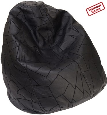 2ndmay Medium Leather Classic -M Teardrop Bean Bag  Cover (Without Filling)